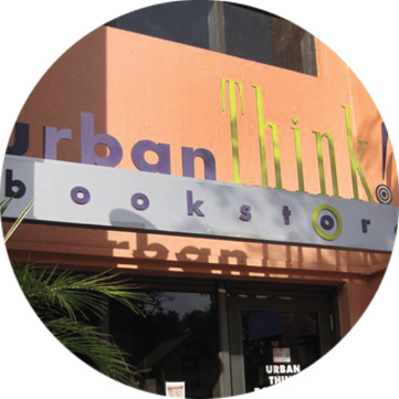 the entryway for Urban Think Bookstore